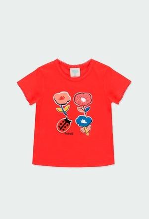 """Camiseta punto """"flores"""" de bebé niña_1"""