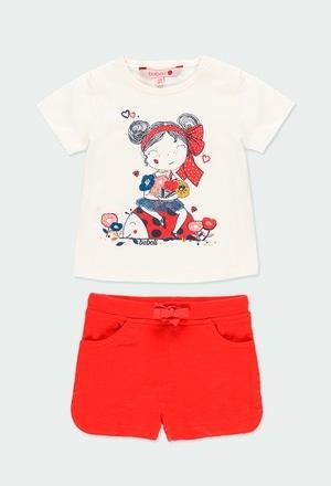 """Pack en tricot """"coquelicot"""" pour bébé fille_1"""