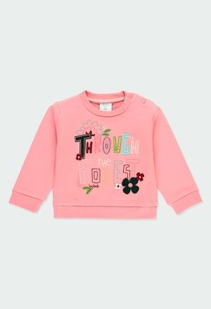 """Sweatshirt felpa """"letras"""" para o bebé menina_1"""