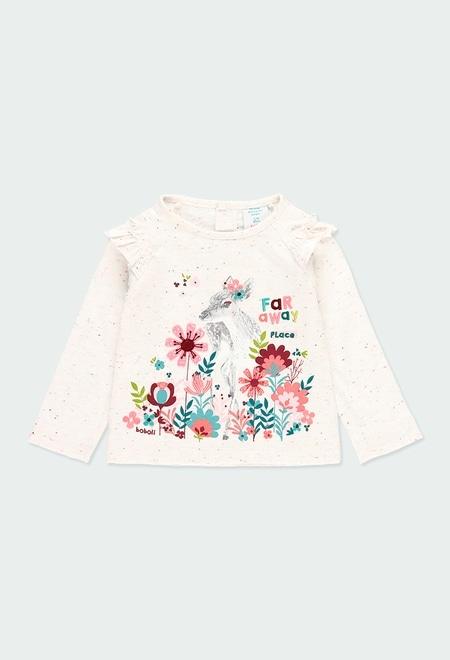 Camiseta punto con volantes de bebé niña_1