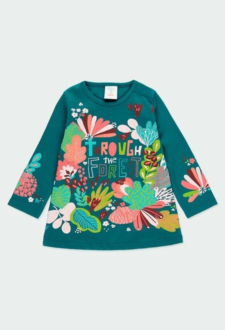 """Vestido punto """"floral"""" de bebé niña_1"""