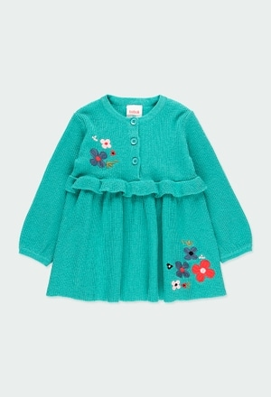 """Knitwear dress """"floral"""" for baby girl_1"""