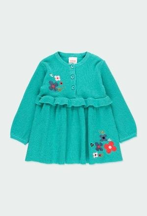 "Vestido tricot ""floral"" para o bebé menina_1"