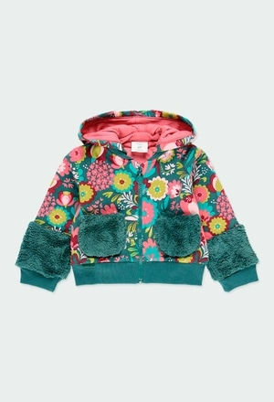 Casaco felpa floral para o bebé menina_1