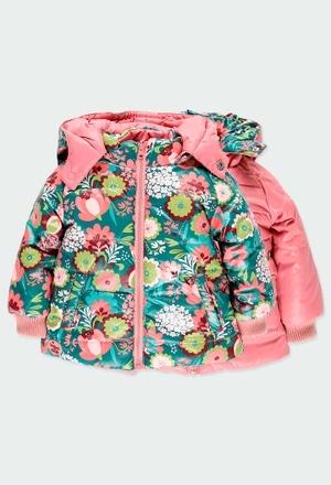Reversible parka floral for baby girl_1