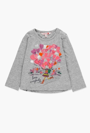 Camiseta punto liso de bebé niña_1