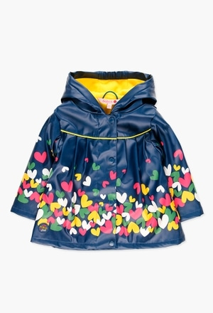 Hooded raincoat for baby girl_1