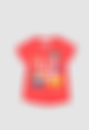Camiseta punto liso de bebé niña