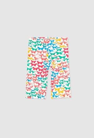 Stretch leggings 3/4 for baby girl_1