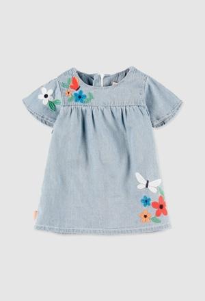 Vestido denim de bebé niña_1