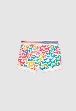 Fleece shorts for baby girl_1