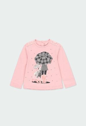 """Camiseta punto """"niña y perrito"""" de bebé_1"""