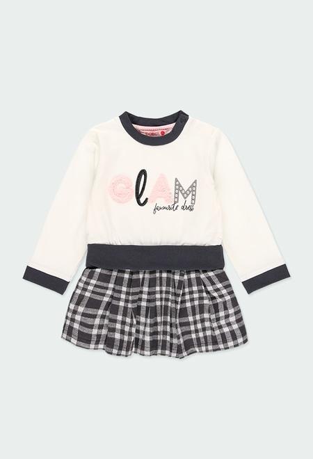 """Vestido punto """"letras"""" de bebé niña_1"""