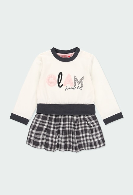 """Knit dress """"letters"""" for baby girl_1"""