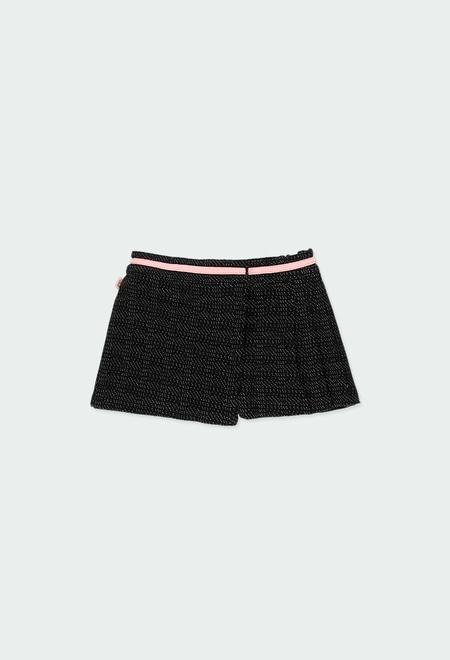 Skort knit for baby girl_1