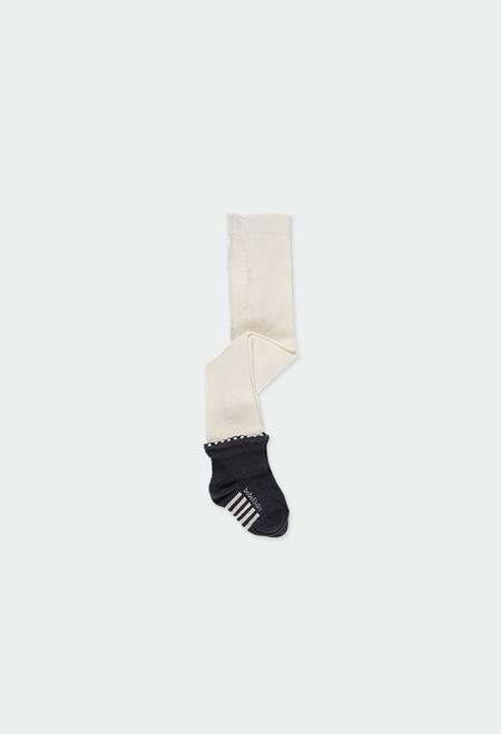 Leotardo con calcetín de bebé niña_1