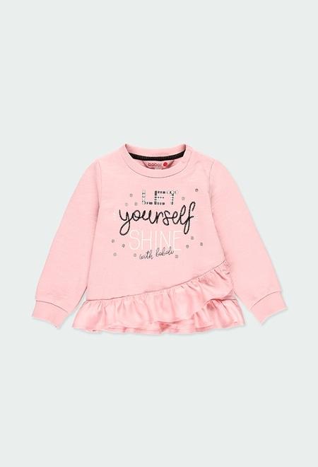 Sweat-Shirt plüsch mit rüschen für baby mädchen_1