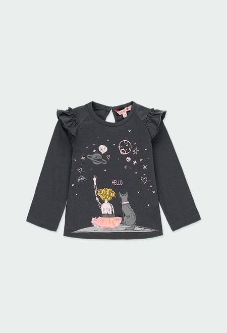 Camiseta punto planetas de bebé niña_1