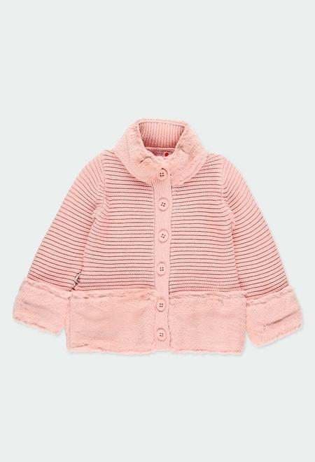 Casaco tricot com bandas do bébé_1