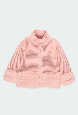 Knitwear jacket with stripes for baby_1