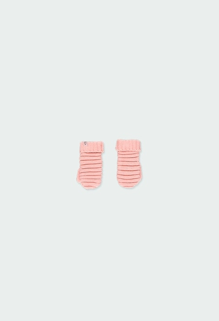 Knitwear mittens for baby girl_1