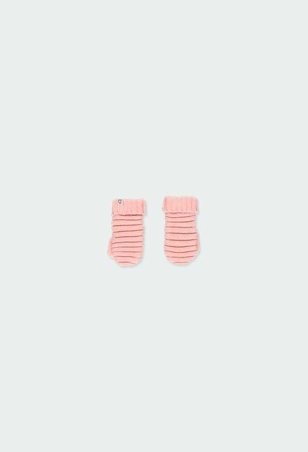 Luva tricot para o bebé menina_1