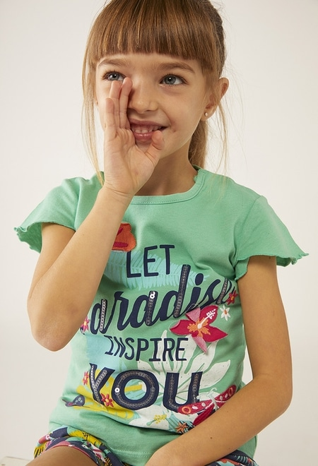 """Camiseta punto """"paradise"""" de bebé niña_1"""