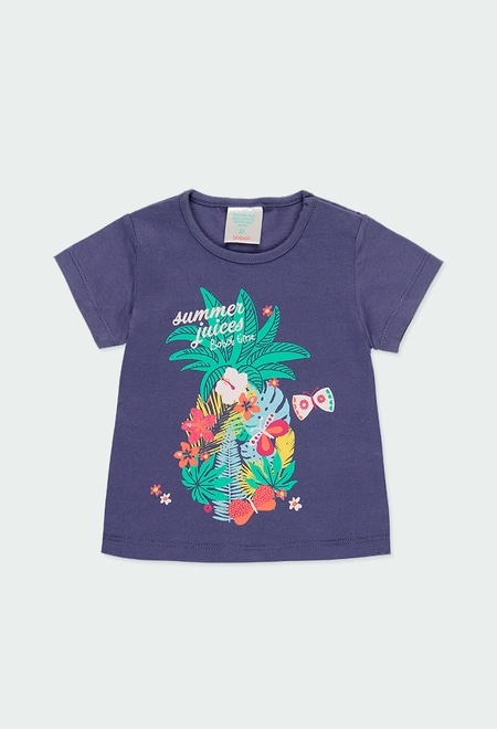 """Knit t-Shirt """"summer"""" for baby girl_1"""