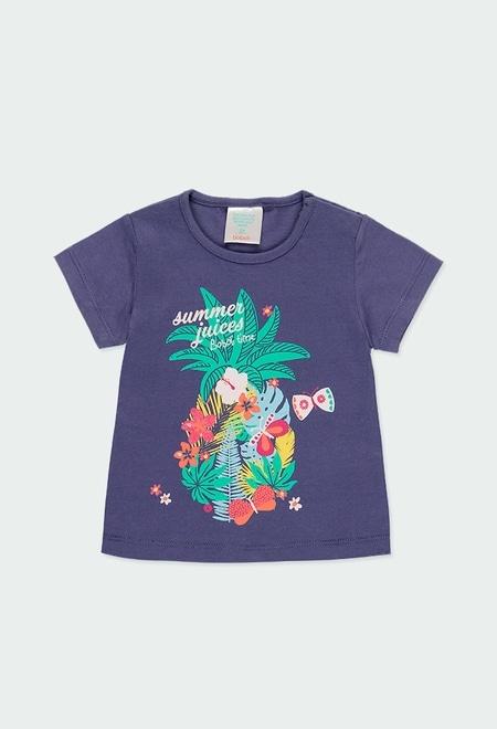 """T-Shirt gestrickt """"summer"""" für baby mädchen_1"""