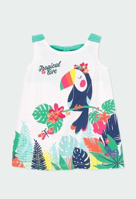 "Knit dress ""bird"" for baby girl_1"