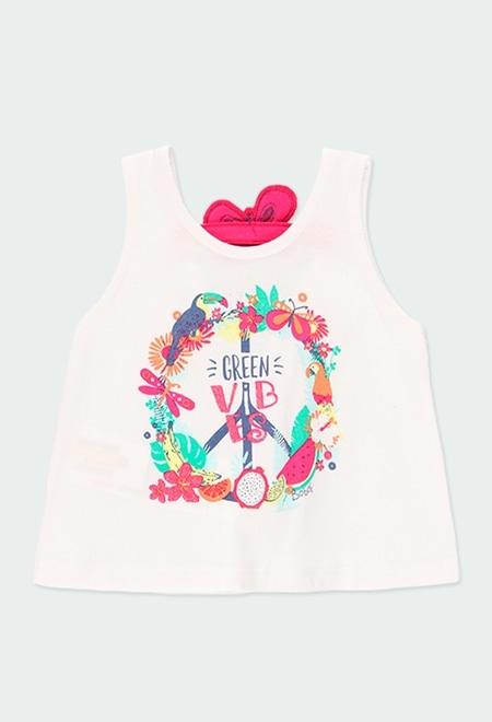 """Camiseta malha """"borboleta"""" do b?b?_1"""