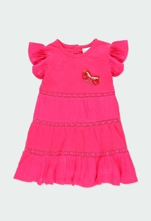 Kleid gestrickt kombiniert für baby mädchen_1