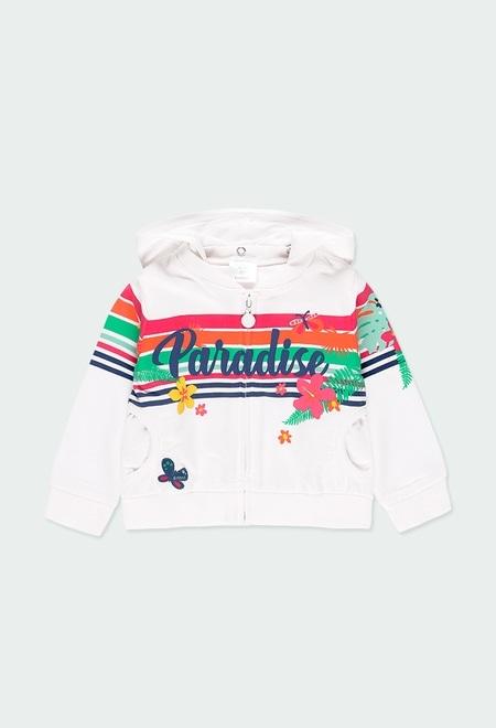 Fleece jacket for baby girl_1
