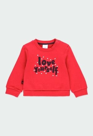 Fleece sweatshirt for baby girl_1
