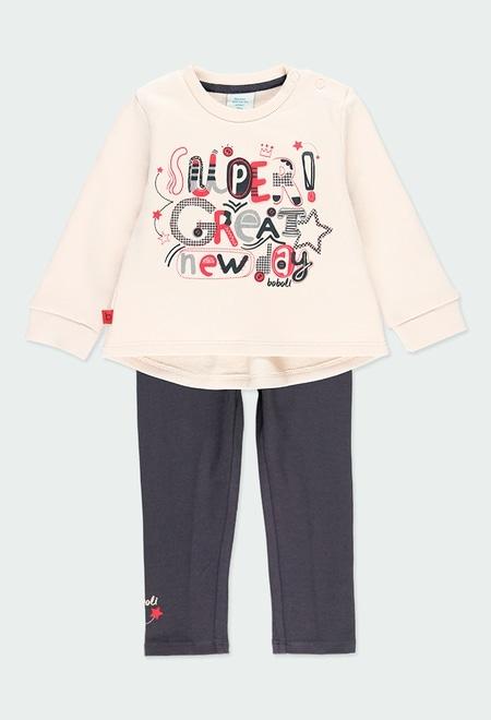 """Pack en tricot bi matiere """"lettres"""" pour bébé_1"""