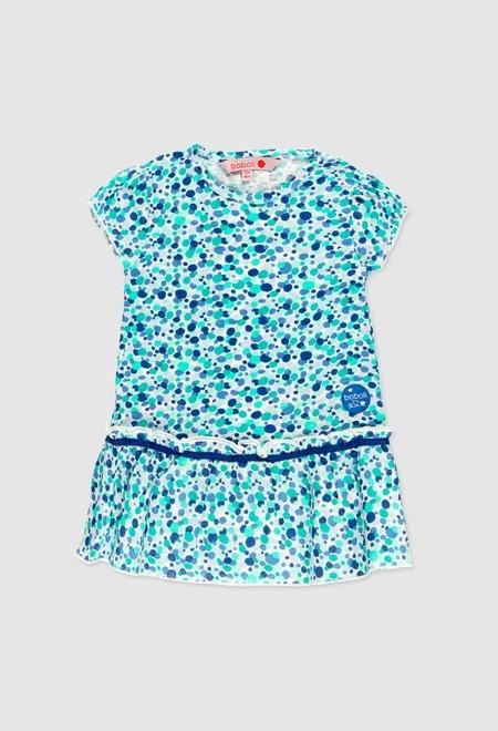 Vestido punto combinado de bebé niña_1