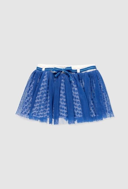 Combined tulle skirt for baby girl_1