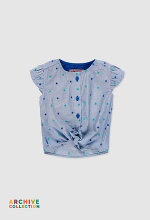 Blusa de tejido de bebé niña_1