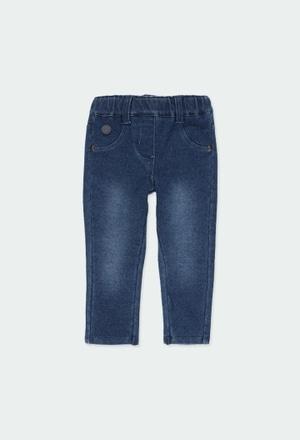 Pantaloni felpati denim per bimba_1