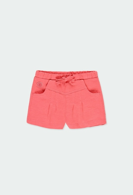 Knit bermuda shorts flame for girl_1