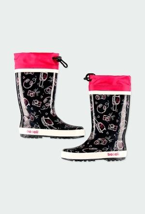"""Stivali da pioggia """"macchina fotografica"""" per ragazza_1"""