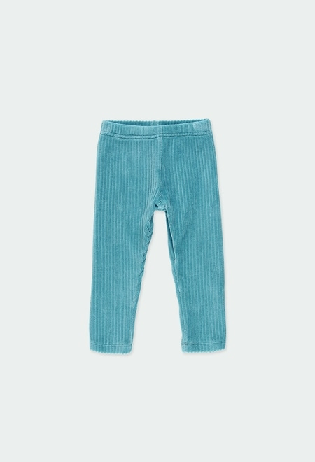 Leggings en velours stretch pour bébé fille_1