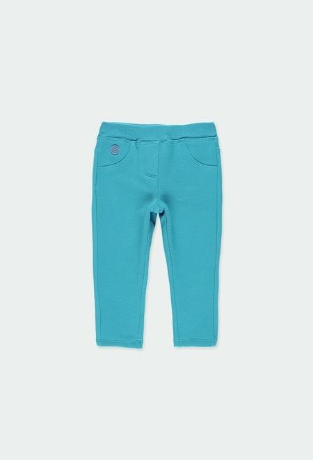 Pantalon en molleton stretch pour bébé fille_1
