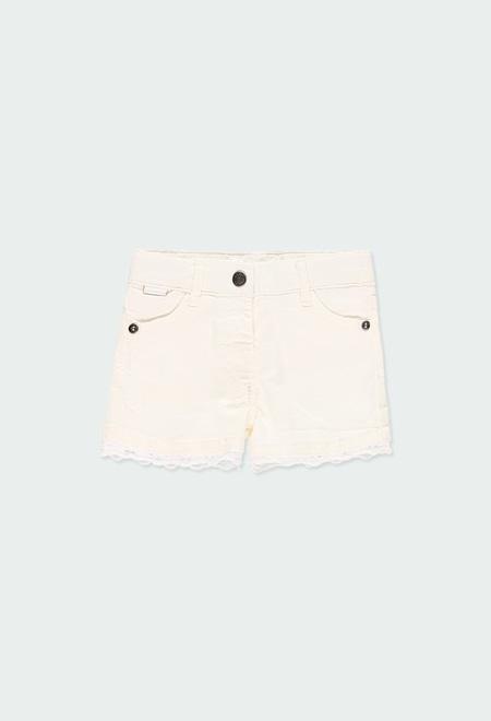 Stretch gabardine shorts for baby girl_1