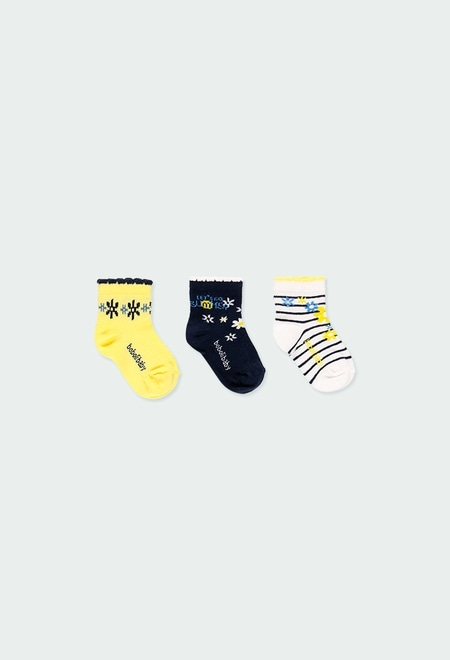 Pack meias curtas para o beb? menina_1