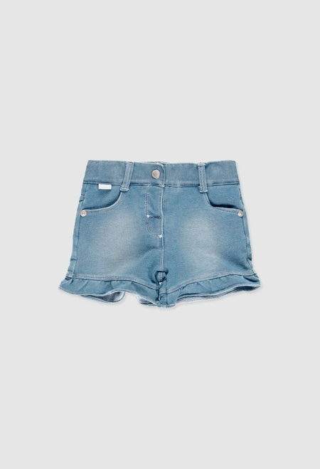 Short felpa denim de bebé niña_1