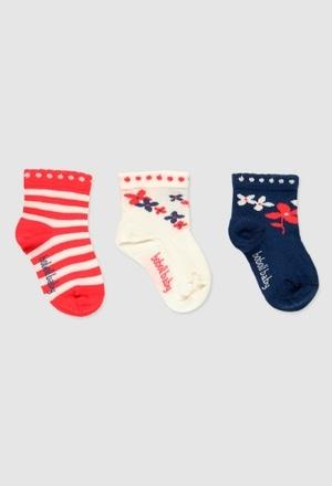 Pack de chaussettes pour bébé fille_1