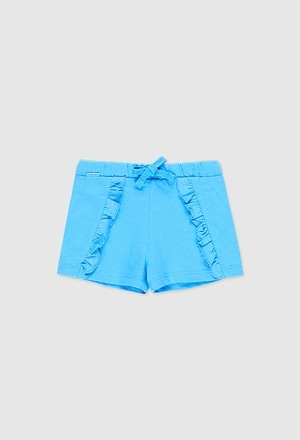 Knit bermuda shorts flame for baby girl_1