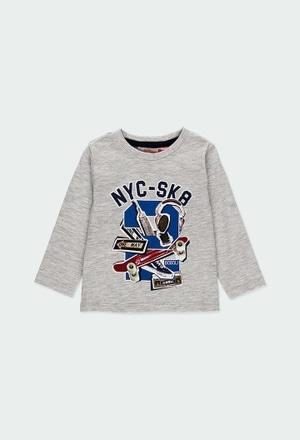"""T-Shirt gestrickt """"new york 1845"""" für baby junge_1"""