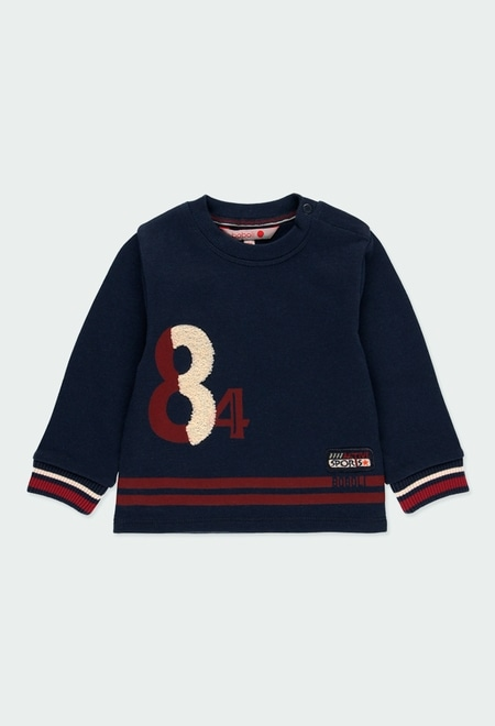 "Sweatshirt felpa ""84"" para o bebé menino_1"